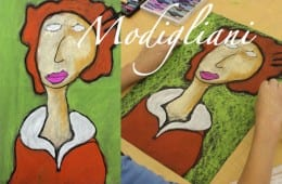 Modigliani Portraits in Chalk pastel