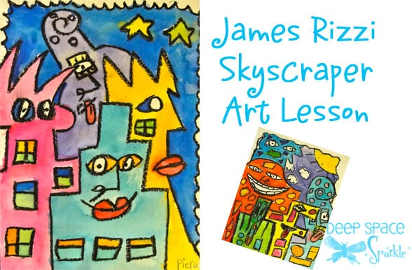Kids draw and paint a funky cityscape inspired by American artist, James Rizzi.