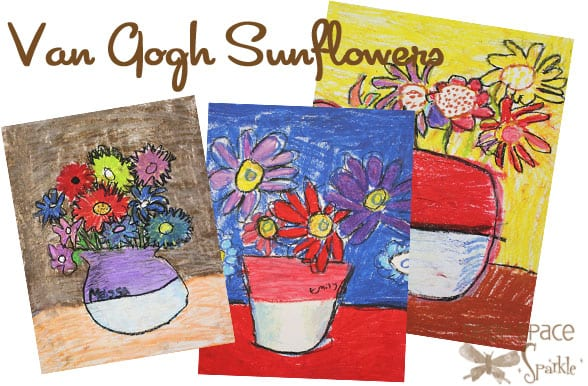 Van Gogh Sunflowers Art Lesson In Oil Pastel And Tempera