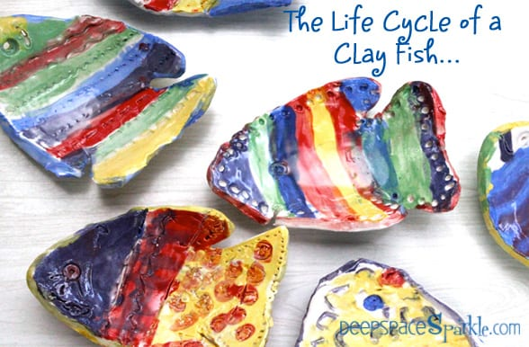 Ceramic Fish Art Project Deep Space Sparkle