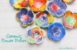 Ceramic Flower Dishes