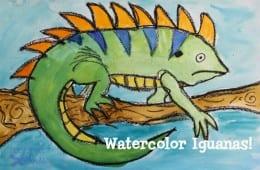 Watercolor Iguana Art Lesson