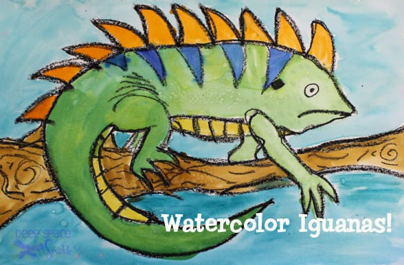Watercolor Iguana Art Lesson