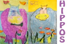 Underwater Hippo Art Lesson