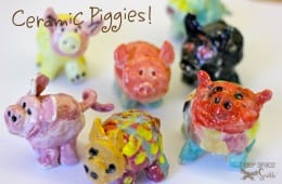 Ceramic pig art project
