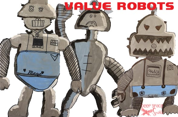 Robot value and painting lesson