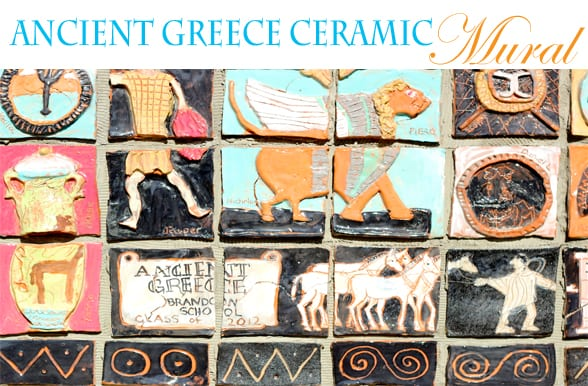 Ancient greece mural project for Ancient greek mural