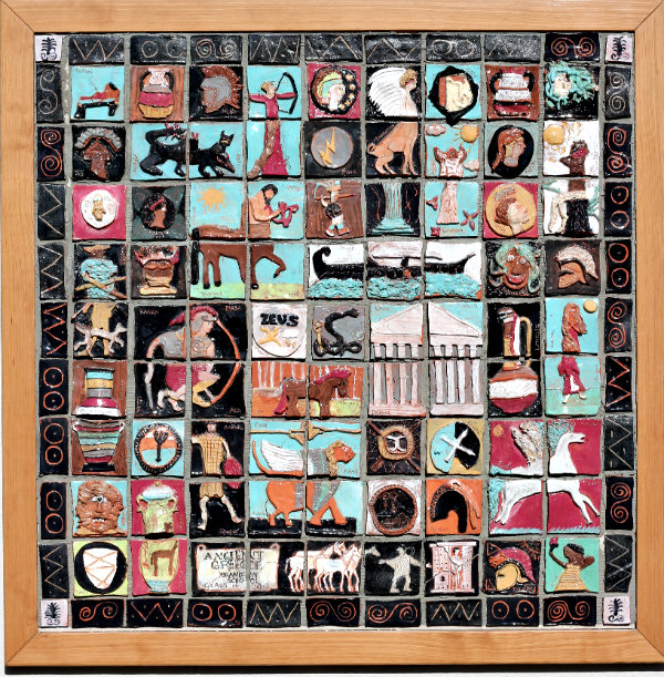 Ancient greece crafts for kids for Artwork on tile ceramic mural