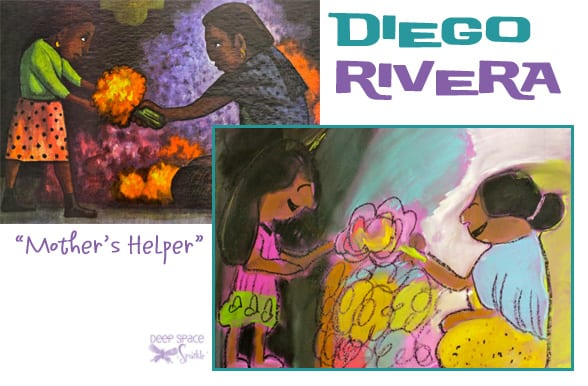 Diego Rivera's Mother's Helper Art Lesson