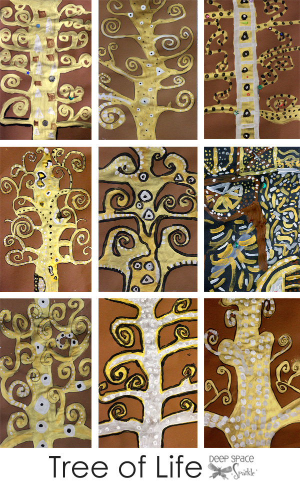 Klimt Tree Of Life Art Lesson Sixth Grade Tree of Life