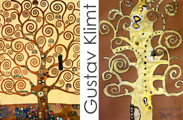 gustav klimt art projects deep space sparkle
