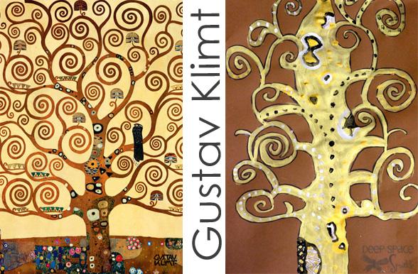 Gustav Klimt Art Projects | Deep Space Sparkle