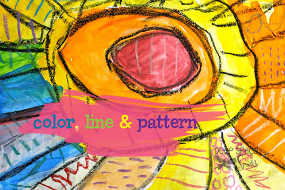 Line Art Projects : Color line and pattern art project deep space sparkle