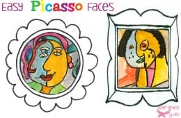 Easy Picasso Faces Art Project