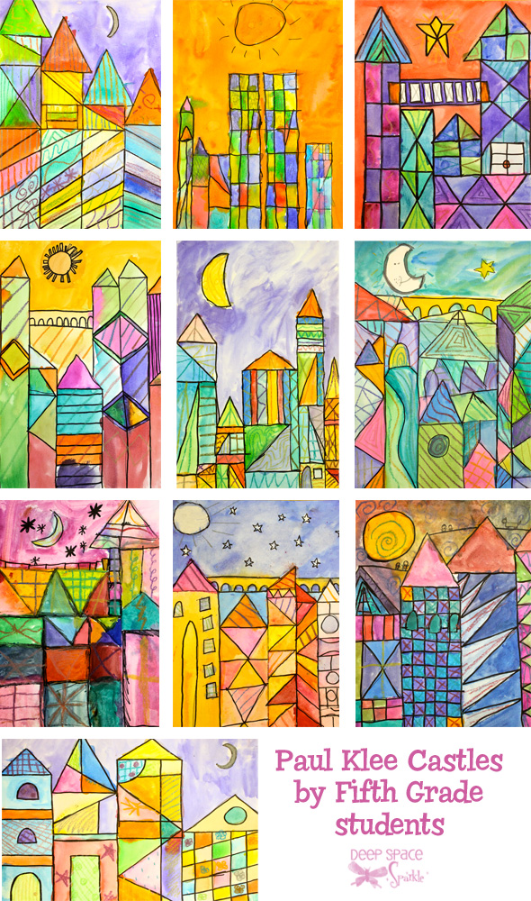 Paul Klee Shapes Colouring Pages