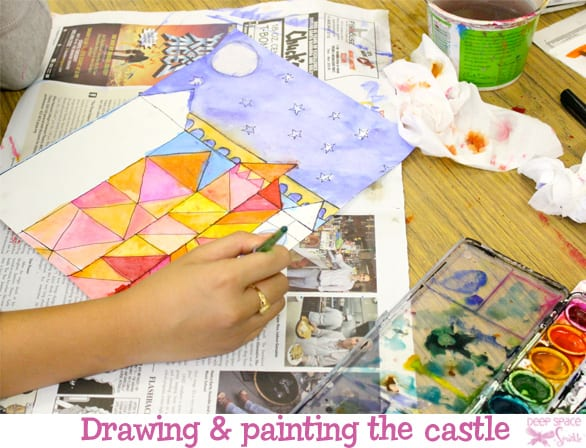Drawing and painting the castle- Paul Klee