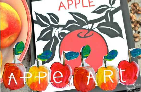 Try this color mixing art lesson this Fall with your kids. Start the project by reading Apple by Nikki McClure.