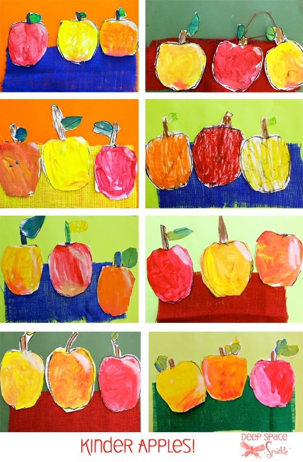 Try this cute apple craft with your kids then experiment with colors to paint your apples.