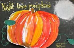 Starlight Pumpkin Art Lesson