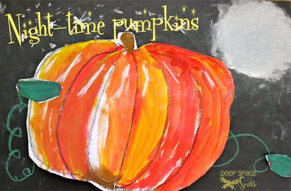 Starlight Pumpkin Art Lesson   Deep Space Sparkle