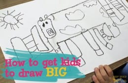 How to get children to draw big