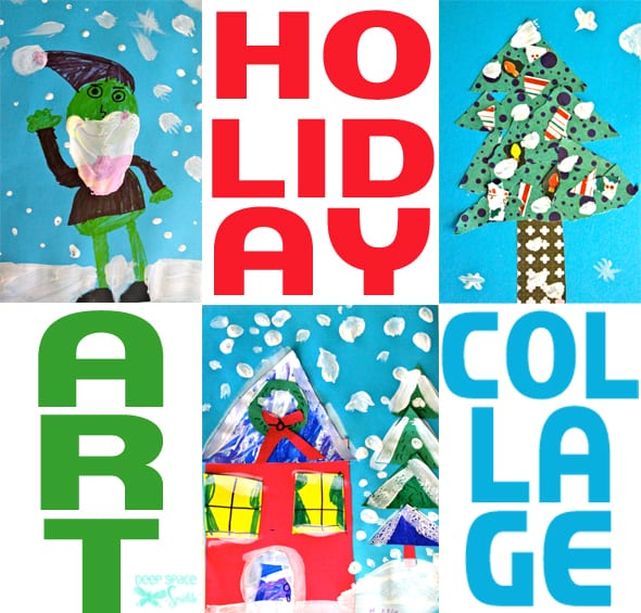 An easy holiday art and craft project for kids that uses paint and scrap paper.