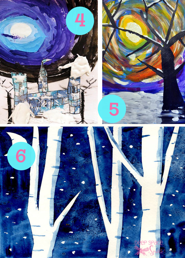 4,5, and 6 winter art