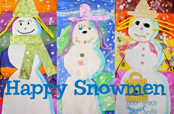 Collage-snowman-art-project
