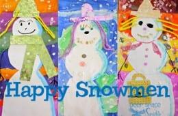 Mixed-Media Snowman