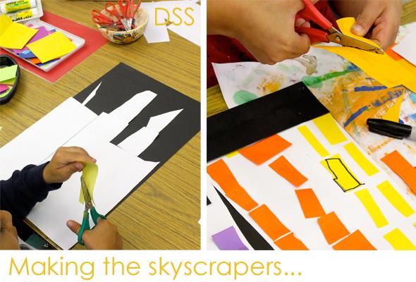 Paper-skyscraper-art-lesson