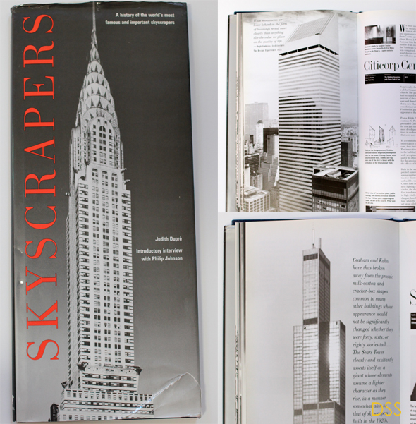 Skyscraper-books-for-art-project