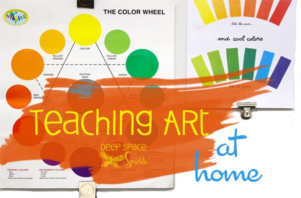 Teaching Art at Home: Problems, Set Up, and Art Supplies