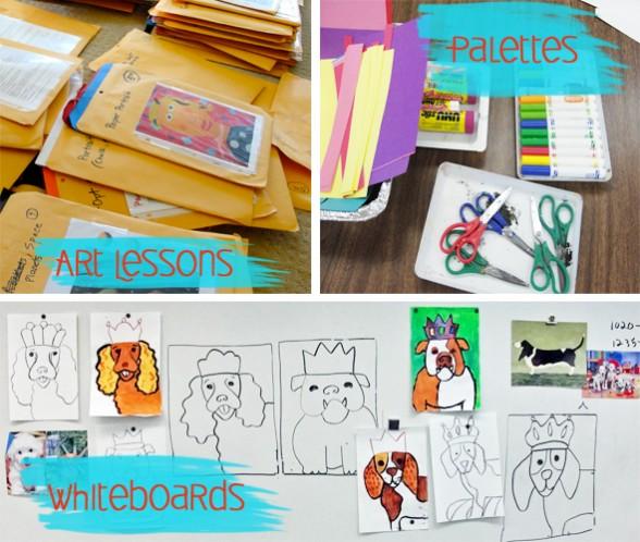 Teaching art at home