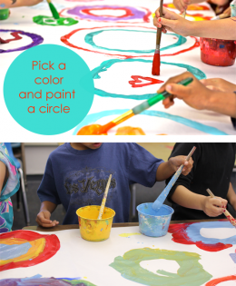 Circle Paintings with Kinders