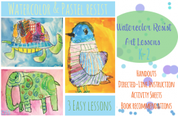 Watercolor & Pastel Resist Art Lessons