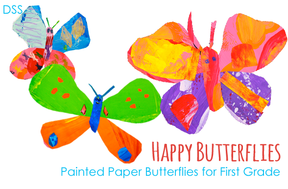 Painted Paper Butterflies
