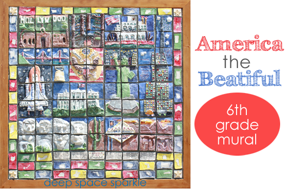 America the Beautiful Ceramic Tile Mural