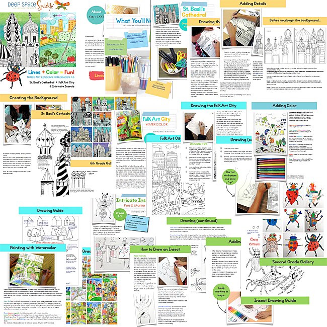 Line Drawing Art Projects for Kids