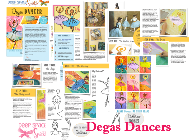 Degas Dancer Art Lesson
