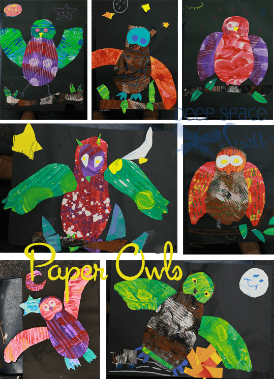 Paper-owl-Art-Lesson