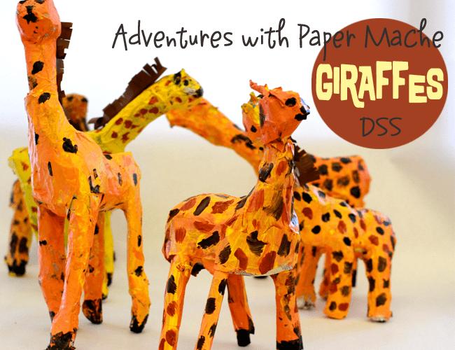 Paper-Mache-Giraffes