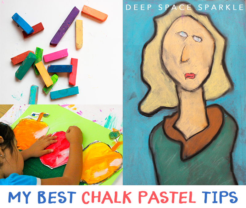 5 tips for working with chalk pastel in kid's art