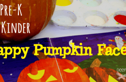 Funny Face Pumpkin Project for Kinders