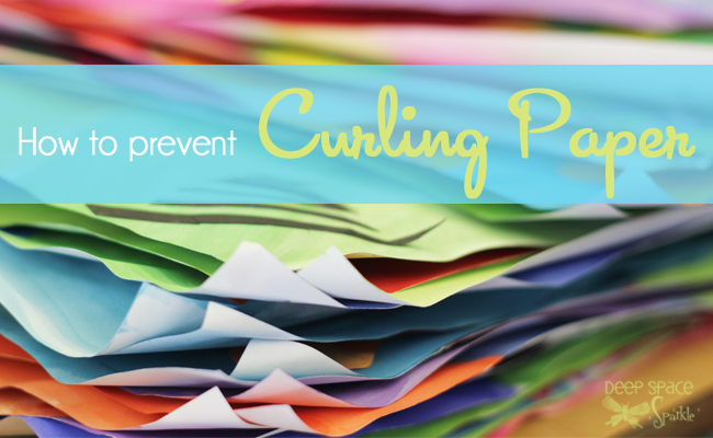How to stop paper from curling. Art tips from Deep Space Sparkle