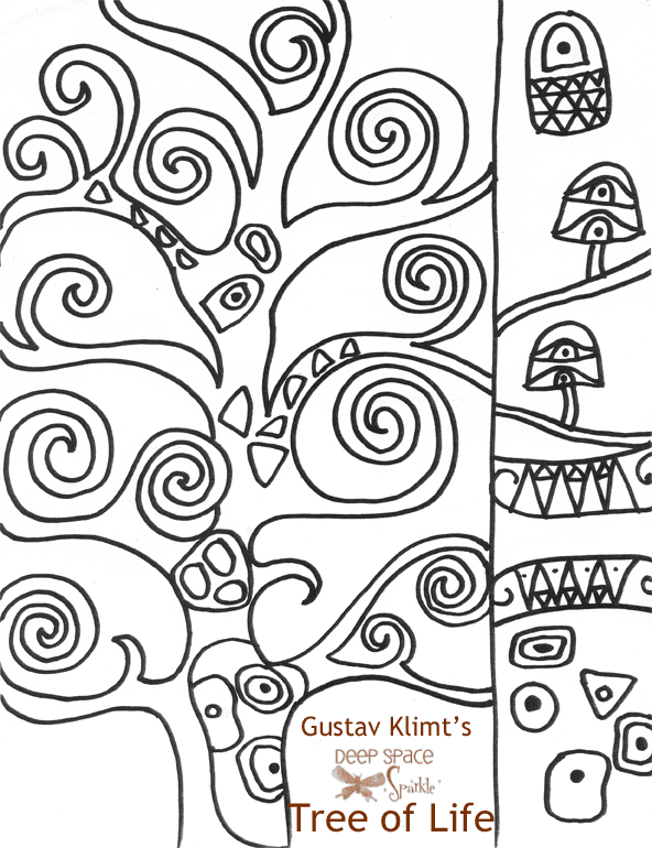 Klimt Tree Of Life Art Lesson Klimt s-Tree-of-Life-drawing-