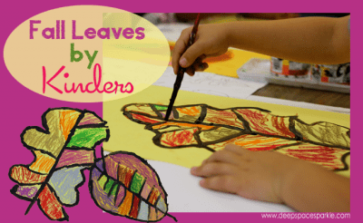 Fall leaves art project