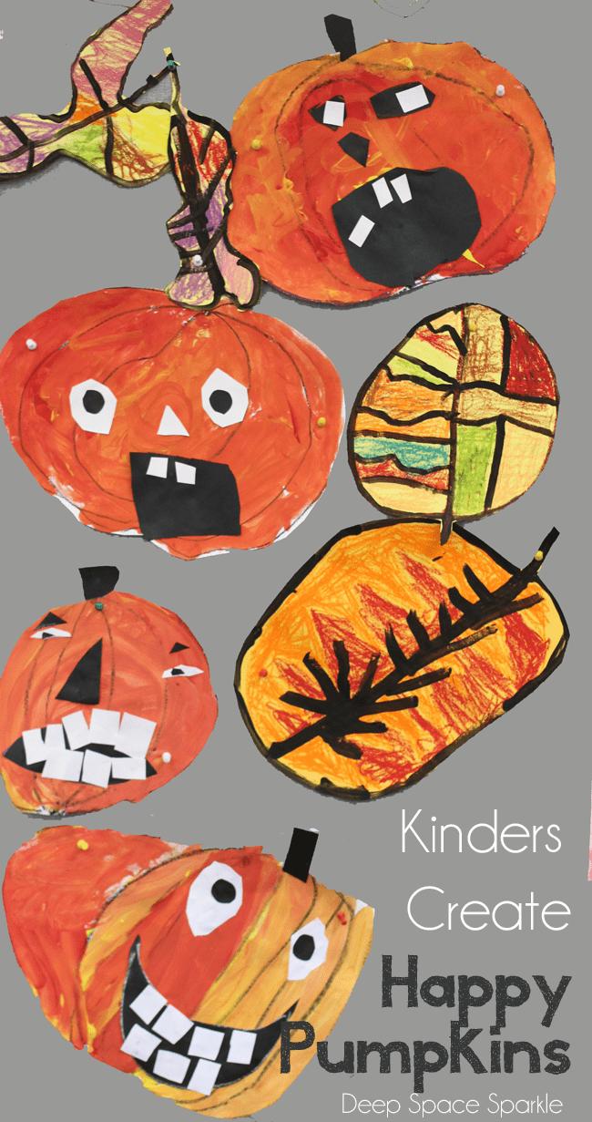 Happy pumpkins art project
