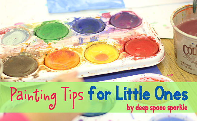 Painting tips to help you get the most out of painting with pre-school and Kinder Kids plus a great painting project to try.