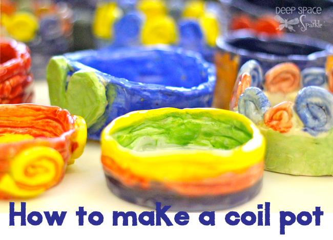 How To Make A Coil Pot Deep Space Sparkle