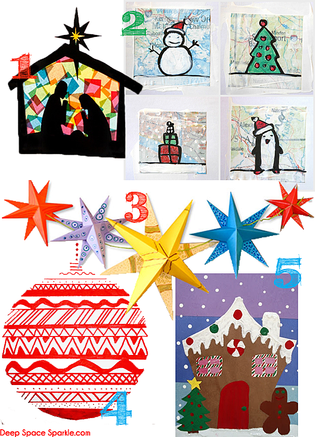 a collection of kids christmas art and craft projects from my favorite bloggers